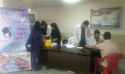 برپايي غرفه سلامت  به بهانه ي هفته سلامت توسط انجمن علمي دانشكده